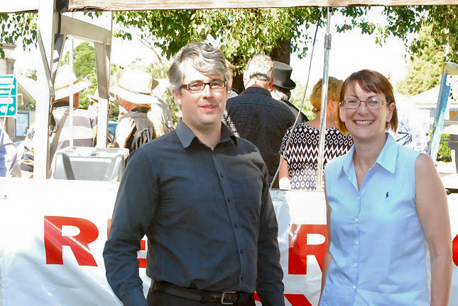 Macquarie Labor Candidate Susan Templeman and Prominent Labor Member Andrew Punch