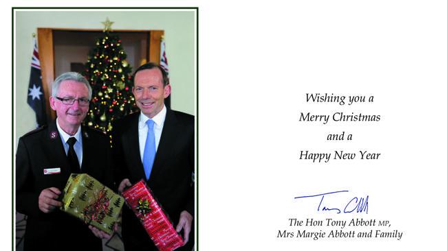 Abbott's Xmas card, I'm not watching my mailbox...