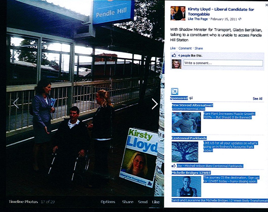 Last time a lift was promised. Notice Gladys and  Kirsty talking over disabled man not to him?