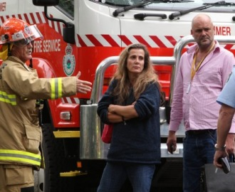 Kathy arrives home to fire crews Image - Fairfax