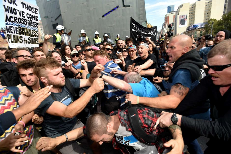 The inevitable result of the protest  Image - ABC