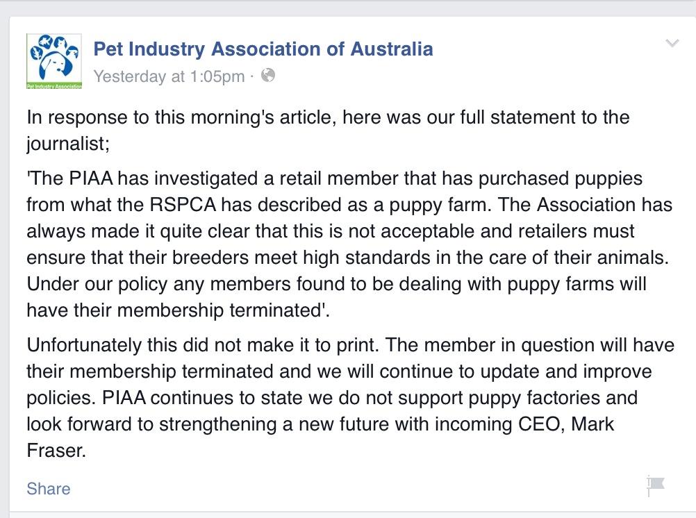 PIAA response