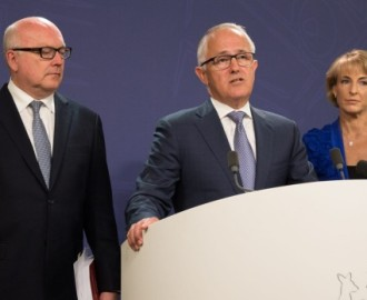 Turnbull fronts up with two members of his bench who haven't been forced to stand down Image - Fairfax