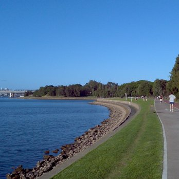 The waterfront in one section of Callan Park - That's Sydney Harbour not the River Styxx