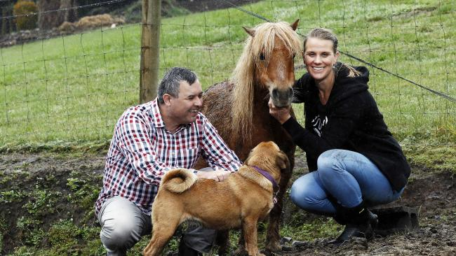 """Leah """"Liar"""" Folloni with Bruce Poon of the Animal Justice Party Photo - Berwick Leader"""