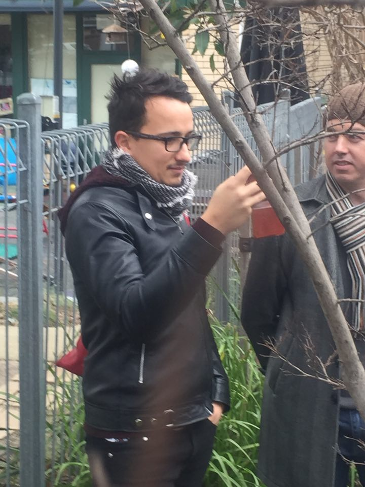 Ogy None Kanobi and Gamer film voters from behind a tree - cue Paul Keating