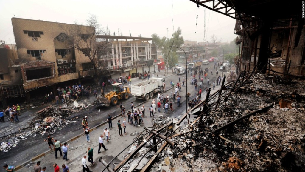 The scene of the bombing in Baghdad that killed hundreds Image - CNN