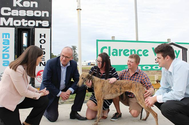 Here's one I doped earlier, Chris Spratt  his wife and a greyhound with Foley and other Labor members Image - cvindependent.com.au