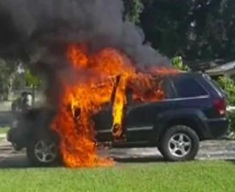 A Jeep goes up in flames after a Note 7 is plugged in Image - Fox News