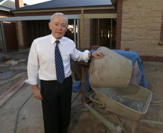 Bob Day wants the families he has left homeless and facing financial ruin that the unions are the bad guys Image - Herald Sun